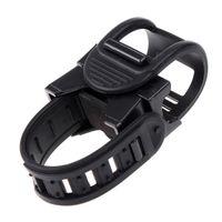 bicycle light mounting bracket - Sturdy Adjustable Leatgher Rotational Bicycle Light Clip Cycling Bike Torch Holder Flashlight Mount Holder Bracket B038