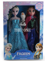 Wholesale frozen toys olaf original frozen elsa anna dolls Frozen princesses doll set with piece olaf dolls christmas gifts for children