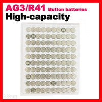 Wholesale 100pcs AG3 L736 LR41 battery Alkaline Button Battery Cell Coin Battery v mAh watch Man