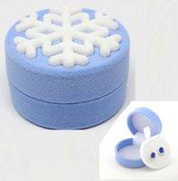 Wholesale Luxury Princess Round Snowflake Velvet Necklace Pendant Jewellery Case Gift Box