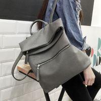 Wholesale 2016 Leather Backpacks Women Schoolbags For Teenagers Girls Black Travel Shoulder Bag Waterproof Hiking Packbag Mochila Feminina