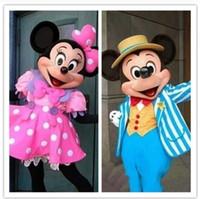Línea de Mickey Mouse de la historieta Muñecas Ropa Mickey Minnie de la historieta de dibujos animados traje de la mascota Atrezzo N37474