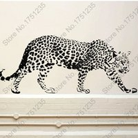 Wholesale Wall stickers Home decor mm mm Leopard Wall decals PVC Vinyl Paster Removable Art Mural SLB