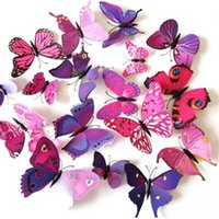 Wholesale DIY D Butterfly Removable Wall Decals Butterflies Stickers Art Decals Mural Wallpaper for Home Room Decoration set H15336