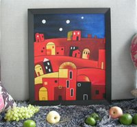 Wholesale New DIY D Diamond Abstract Painting Square Full Diamond Sewing Rhinestones Hand Embroidery Cross Stitch House