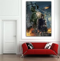 puffy paint - Newest marvel s movie avangers oil painting effect sticker poster for walls decor x60cm quot x24 quot d wall stickers
