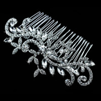 diamond tiara - Diamond jewelry Leaf Crystal Imitation Rhinestone Bridal Tiaras Hair Combs Hairpin Wedding Hair Accessories Hair Jewelry