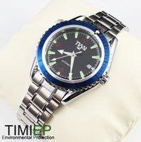 Cheap Blue Ring Mens Mechanical Clock AUTO SS TIMI Brand Wrist Watch X'mas Gift