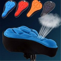 Wholesale New Cycling Bike Saddle Comfortable Silicone Gel Seat Cover Cushion Soft Bicycle Pad