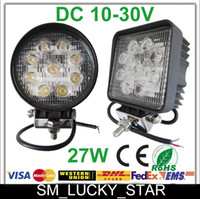 Wholesale Top Square Round W Flood Spot Beam Offroad LED Work Light Truck Boat Camping DC V V LED Working Light Off Road Driving