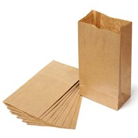 Wholesale Hot sale Set of Kraft Paper Small Gift Bags Sandwich Bread Food Bags Party Wedding Favour X12 X7 cm