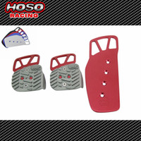 Wholesale Racing Aluminum Pedal Pad Cover Kit Manual Transmission MT