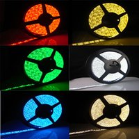 Wholesale DHL SMD Waterproof LEDs M LEDs Warm Cool White Red Green Blue Yellow RGB M Roll Flexible LED Strip Light