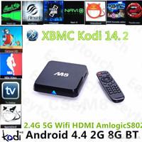 Quad Core amlogic dual core - 5P HOT Original M8 M8N Kodi14 Amlogic S802 S812 Android TV Box G G Quad Core XBMC TV Box Android K G G Dual WiFi DHL Free