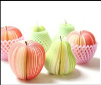 apple decorations - 2016 new best selling apple pear lemon orange strawberry watermelon yangtao fruits notes paper Easy to use innovative stationery gift toy