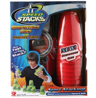 Wholesale 2015 New Hot Sale SPEED STACKS Toys Gift CUPS BAG TIMER TRAINING MANUAL Colors Avaivable