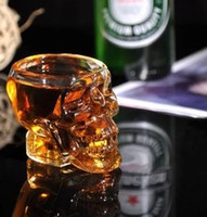 Wholesale Drinking Ware wine shot glass Crystal Head Vodka Glass Whiskey Cup Skull Glass