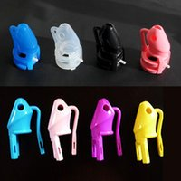 male chastity belt - Locking Male Chastity Belt Device Silicone Crafts Male Chastity Device Cock Cage Rubber Sex Toy Men Bird Lock Silicone Belt