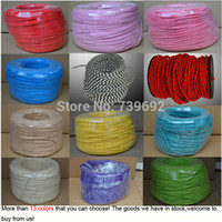 Wholesale 10m multicolor Vintage lamp cord braided electrical wire copper wire DIY accessories pendant light knitted electrical wire