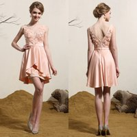 grace karin - 2015 Grace Karin Appliques beads Short prom dress vestidos evening dress via DHL