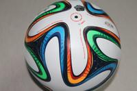 Wholesale for Children NEW WORLD CUP BRAZUCA FINAL MATCH SOCCER BALL SIZE Brasil Top Glider Match Ball Brazil soccer ball
