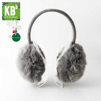 Cheap Wholesale-A#[Heartful Twist] KBB 5 Colors Fashion Fall Autumn Winter Fluffy Hands Free Music MP3 Speaker Earmuffs For Smartphones