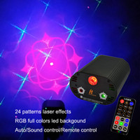 Wholesale 2PCS RGB LED patterns laser flash mini lazer disco party stage dj light