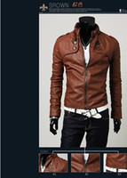 leather motorcycle apparel - Mens Apparel Clothing Collar Boys Jacket Male Motorcycle Leather Jacket Boys Outwears Fashion Designer Jackets Korean Coats Lowest Price