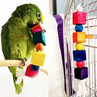 Wholesale Cotton Rope Chew Toy Supplies Wooden Swing Climbing Ladder for Parrot Bird Cage Accessories G01210