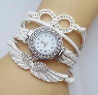 Wholesale Girl Bracelets Watch Angle s Wing Quartz Watch Friendship Braided Bracelet New Fashion Teenager Rhinestone for