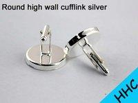 Wholesale 20pcs Silver Plated Cufflink Blanks Cuff link blank cuff link setting fashion brand cufflinks