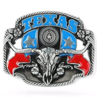 Wholesale Brand New Texas Flag State Cowboy Longhorn Bull Rodeo Belt Buckle