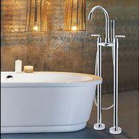bathtub legs - And Retail Floor Mounted Free Standing Chrome Bathtub Mixer Tap Faucet W Hand Shower Legs