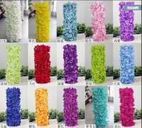 Wholesale Artificial Hydragea Flower Garlands cm Fake Hydrangeas Floral Arrangements for Wedding Party Registration Background Decorations