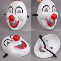 Wholesale High Quality Halloween The clown red nose The movie the clown mask Plastic clown mask Masquerade mask HX