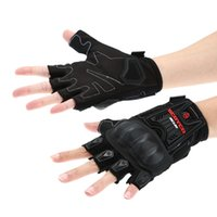 Wholesale Scoyco Half Finger Carbon Guantes Motorcycle Motorbike Cycling Racing Riding Protective Gloves Leather Breathable Mesh Fabric