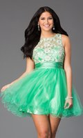 Reference Images short corset dresses for prom - 2015 Corset Green Short Prom Dresses Lace And Tulle Sheer Homecoming Party Gown A line Vestidos De Fiesta Cortos Dress For Juniors Girls