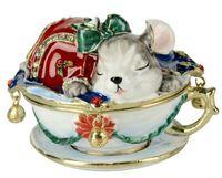 animal trinket box - mouse animal mouse animal jewerly trinket box ring box jewelry case gift box birthday Christmas gifts storage box