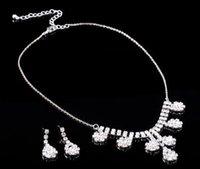 western rhinestone jewelry - Bridal Jewelry Necklace Earrings Set Western Fashion Style Wedding Necklace B5