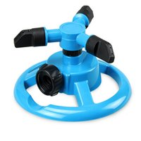 Wholesale Garden Plastic Sprinkler Automatic Degree Rotation Spray Nozzle Watering Head Gardening Supplies
