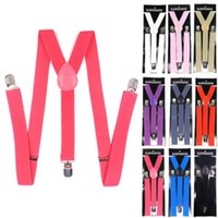 Wholesale Freeshipping Brand New PC New Mens Womens Unisex Clip on Suspenders Elastic Y Shape Adjustable Braces Colorful