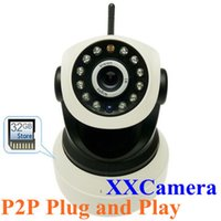 Wholesale New P2P Wireless HD p CMOS KP mm Lens Windows iOS Android ADPCM Kbps IP Network Camera w IR LED