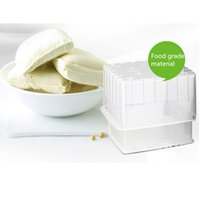 Wholesale 1Pcs DIY Make Tofu Mold Kitchen Plastic Bean Curd Boxes Square x14cm Cooking Tool Sets