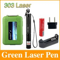 Wholesale car Green Laser Pointer Pen nm Powerful Lazer Adjustable Focus Burning Match Battery Charger Adapter Gift Box LP05