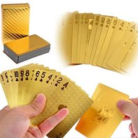 Wholesale Fashion New High Grade K Gold Foil Poker US Dollar Pattern Playing Cards Christmas Gift LSW