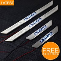 Wholesale LED Stainless Steel Door Sill Scuff Plate CAR Accessories For Nissan X Trail