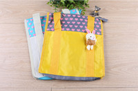 bag ads - Lovely doll reusable shopping bag oxford ad promotion cartoon tote bag student book pocket yellow blue