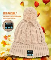 arrival hand hat - New Arrival Bluetooth beanie Hat Cap Knitted Winter Magic Hands free Music mp3 Hat for woman Men Smartphones