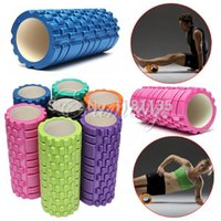 Wholesale 33x14cm EVA Yoga Gym Pilates Fitness Exercise Foam Roller Massage Training Trigger Point