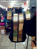 ballroom dancers - Plus size Shrug shoulders black gold sequins mirror men ds dj male singer dancer performance vest outerwear costume jazz show slim jacket